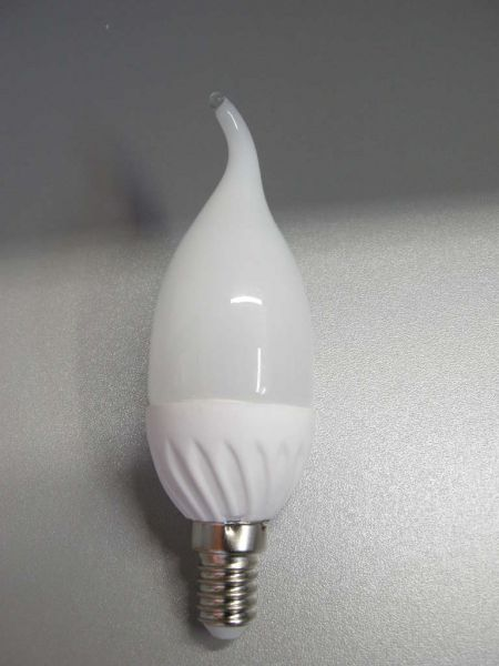 Led Kerzenlampe E 14, 3 Watt, matt, weiß, Flamme 3239